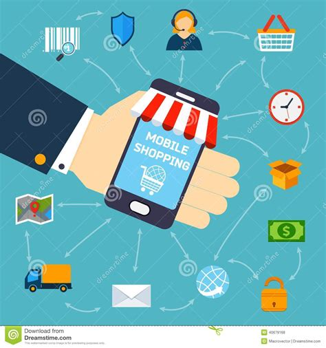 Best Mobile Shopping by Mobile Shopping Concept Stock Vector Image Of Money