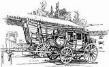 Stagecoach Coloring Prairie Schooner Clipart Etc Pages Wagon Coach Stage West Usf Edu Template Past Sketch Tiff Resolution sketch template