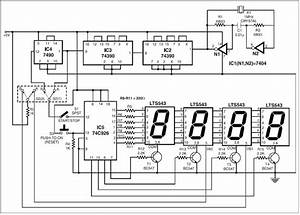 Circuit Diagram Knowledge  Electronic Stop Watch