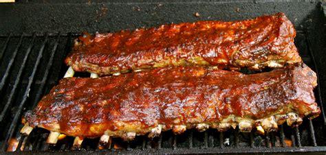 ribs on grill bbq ribs on the grill recipe dishmaps