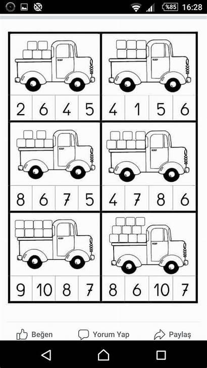 Kindergarten Math Toys Worksheets Numbers Preschool Worksheet