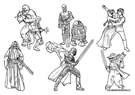 Star Wars Darth Vader Coloring Pages