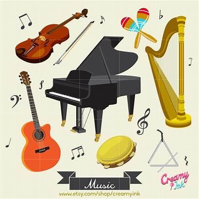 Clip Instrument Musical Clipart Class Piano Violin