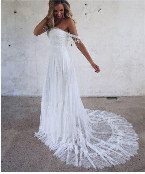 Lace Boho Wedding Dress Beach Wedding Dress Halter