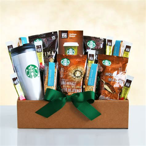 Fill a basket with often overlooked helpful items to get mom and dad through that first week or two. Starbucks Start the Day Gift Box - Gift Baskets by ...