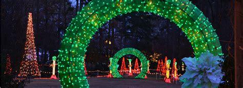 holiday lights at garvan gardens catherine s landing