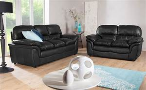 Breathtaking black sofa design idea plus sweet black for Decorate living room black leather furniture