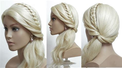 knotted headband ponytail simple hairstyle  long