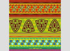 Colorful african pattern Vector Free Download