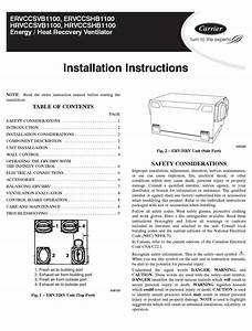 Carrier Ervccsvb1100 Installation Instructions Manual Pdf