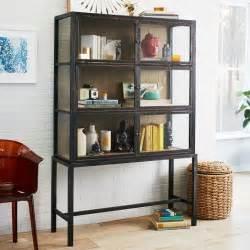 curio display cabinet west elm