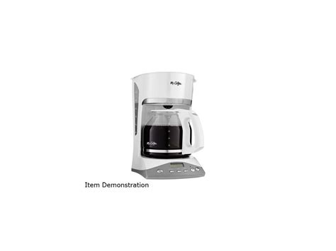 Section and with the decanter and the filter basket securely in. Mr. Coffee SKX20-RB Advanced Brew 12-Cup Programmable ...