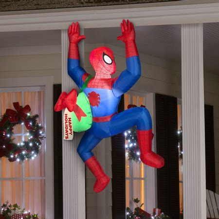 airblown inflatable  spiderman christmas prop walmartcom