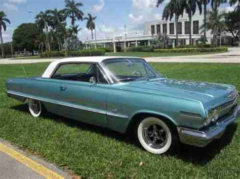 lowered muscle cars find used 1963 chevy impala rust free fl car v8 327 low