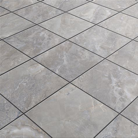 Lowes Bathroom Floor Tiles by Shop Style Selections Tousette Gray Ceramic Floor Tile