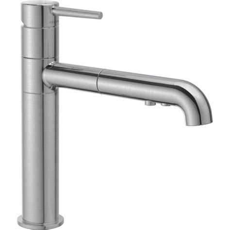 Delta Trinsic Kitchen Faucet Specs by Delta Trinsic Modern Arctic Stainless Pull Out Sprayer
