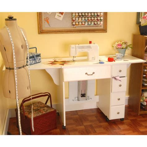 arrow sewing sewing cabinet auntie em crisp white