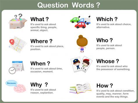 comprehensive list of question words myenglishteacher eu