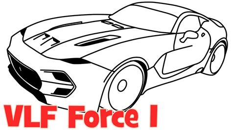 How To Draw A Car Vlf Force 1 New Supercar Step By Step