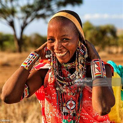African Woman Maasai Water Tribe Carrying Africa