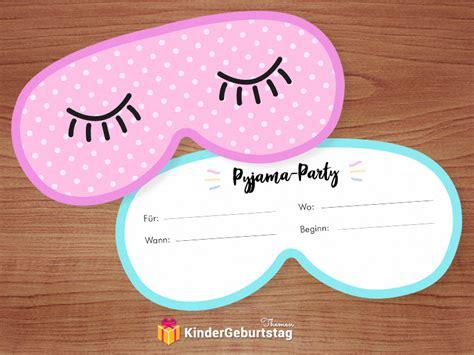 einladung geburtstag pyjama party