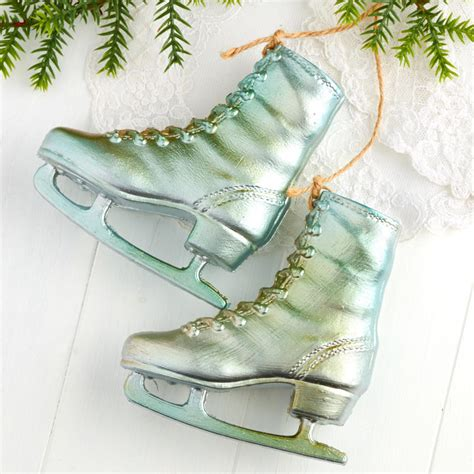 vintage inspired ice skates ornament christmas ornaments