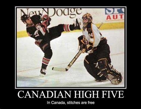 Canada Hockey Meme - canadian high five