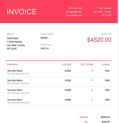 invoice template   send  minutes