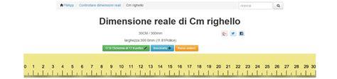 Righello su monitor con cm reali: un sito per visualizzare