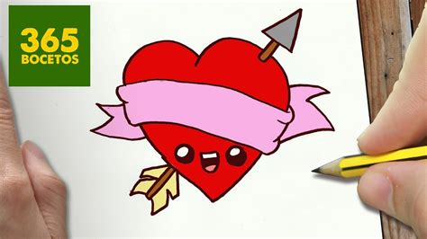 como dibujar corazon kawaii paso a paso dibujos kawaii faciles how to draw a