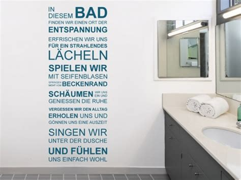 Wandtattoo Fürs Badezimmer  Wandtattoo Im Bad Auf Fliesen