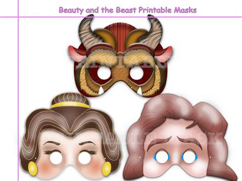 building a masked beast des unique and the beast printable by holidaypartystar