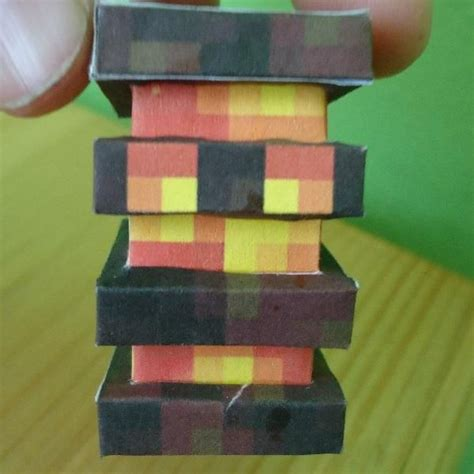papercraft high technology magma cube   paper crafts cube high technology