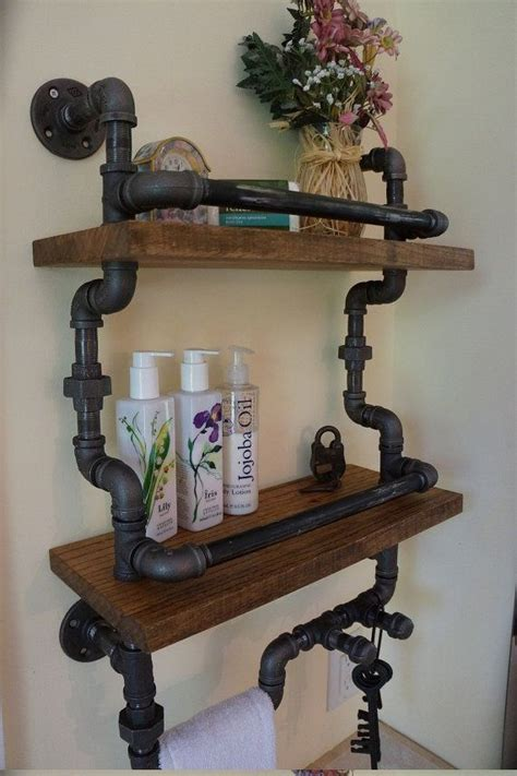 pipe shelf system   bathroom perfect