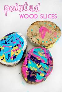 Painted, Wood, Slices