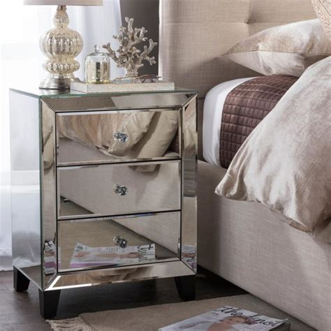 Mirrored Nightstands Cheap mirrored nightstands 10 cheap options polished habitat