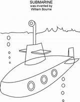 Submarine Coloring Printable Popular sketch template