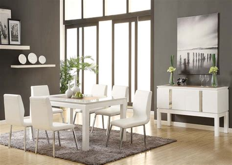 Acme Kilee 9pc Modern Dining Room Set In White By Dining