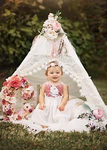 Kids Delicate Halo Flower Crown | 1st birthday photoshoot, Smash cake photoshoot, Wedding ...