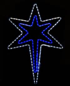 snowflakes stars 32 quot bethlehem star with a blue center