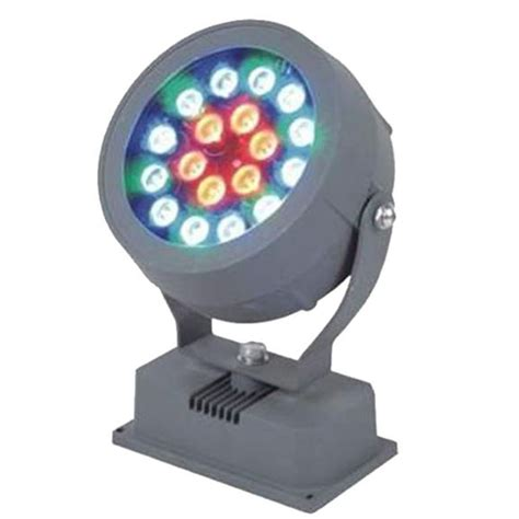 18w rgb led outdoor flood light colorful projection l