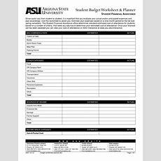 9 Best Images Of College Financial Planning Worksheet