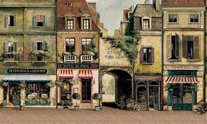 The gallery for --> Paris Street Cafe Wallpaper