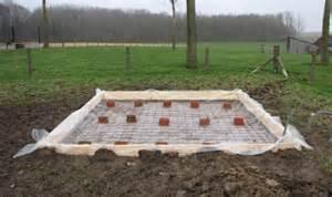 Dalle Beton Pour Abri De Jardin En Bois by Construction He D Une Dalle En B 233 Ton Coffrage Pour L
