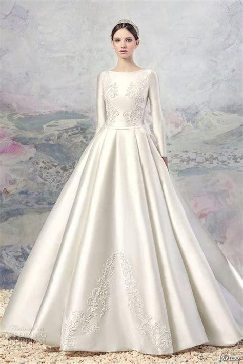 Long Sleeve Wedding Ball Gowns