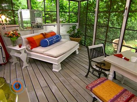 Screened In Porch Decorating Ideas And Photos by How To Create An Outdoor Room Hgtv