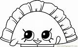 Coloring Shopkins Dumpling Humpty Coloringpages101 sketch template