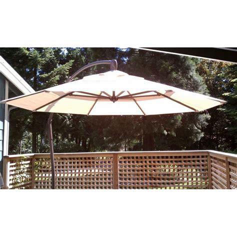 sunbrella patio umbrella costco costco cantilever umbrella replacement canopy garden