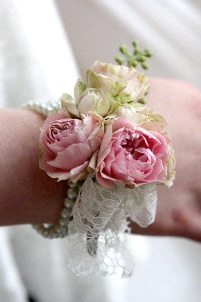 flower bracelet  maids  posies wedding flowers