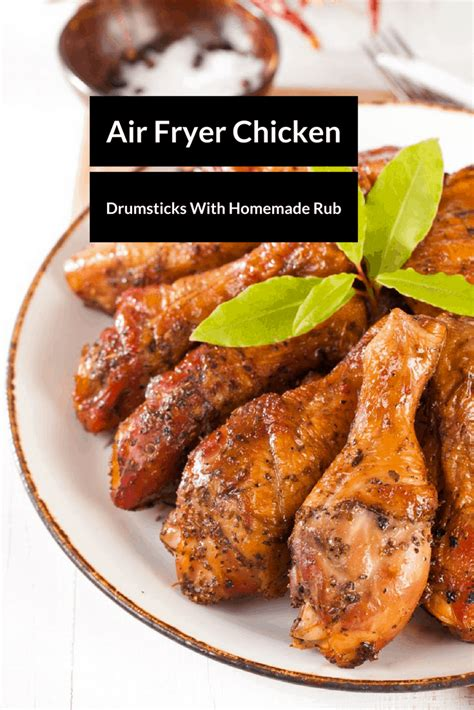 fryer chicken air drumsticks recipes recipe homemade rub legs leg tasty cooking drumstick note affiliate included links frying food meals